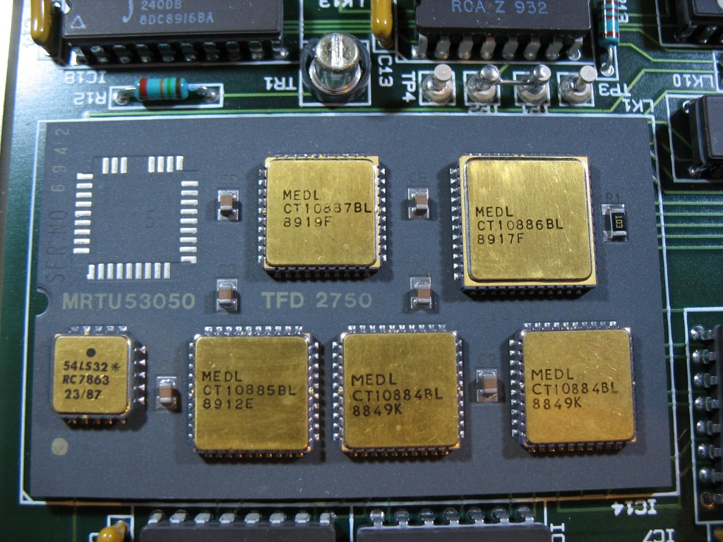 A close up of the multi chip module.